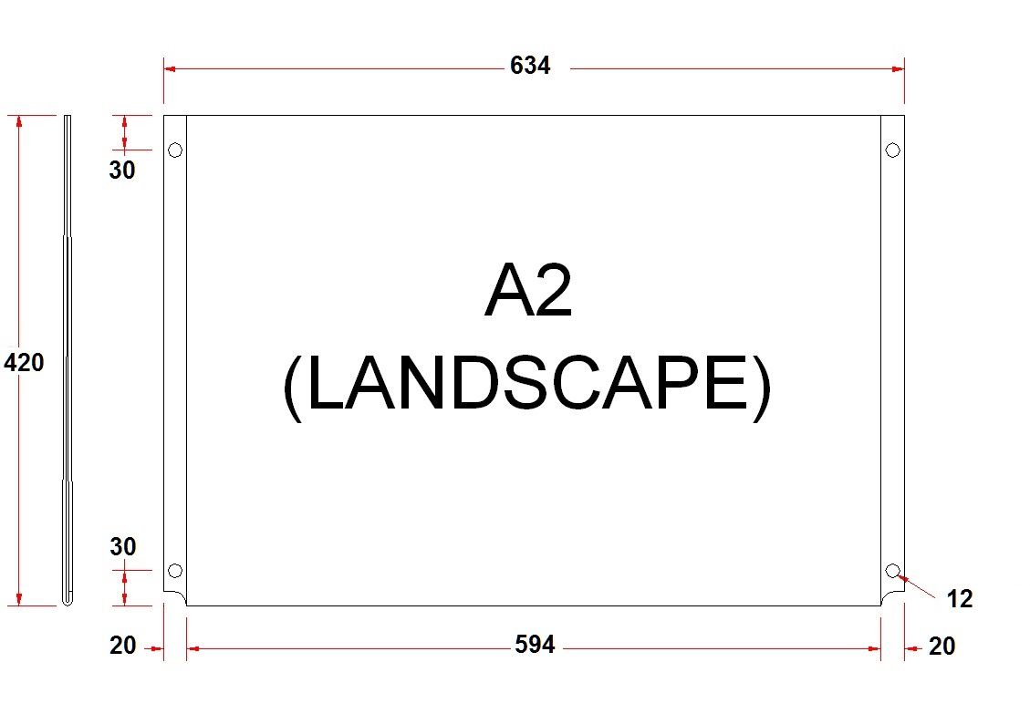 a1 amp a2 acrylic poster holders wall mounted
