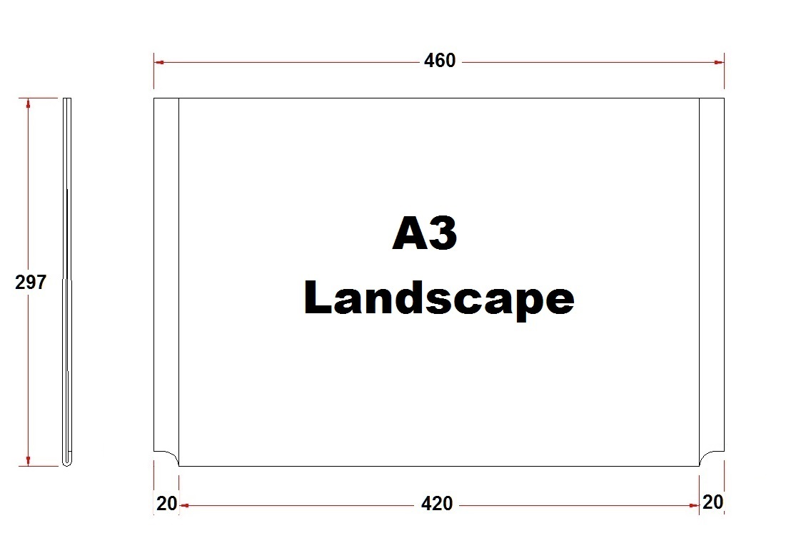 A3 Amp A4 Acrylic Poster Holders Side