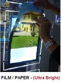 back lit film paper 125um